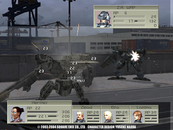 Front Mission 4 Gameplay